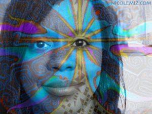 Nicole Mizoguchi Self Portrait (With 11:11 mandala art)