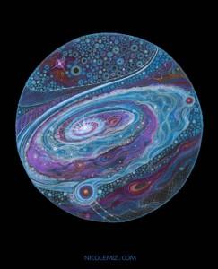 Purple galaxy by Nicole Mizoguchi