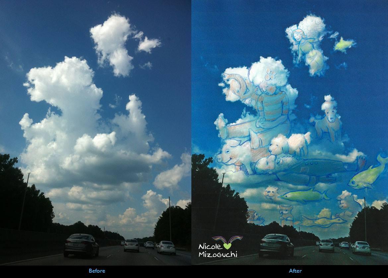 Cloud Drawing by Nicole Mizoguchi